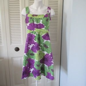 London Times Size 10 Dress Purple Green